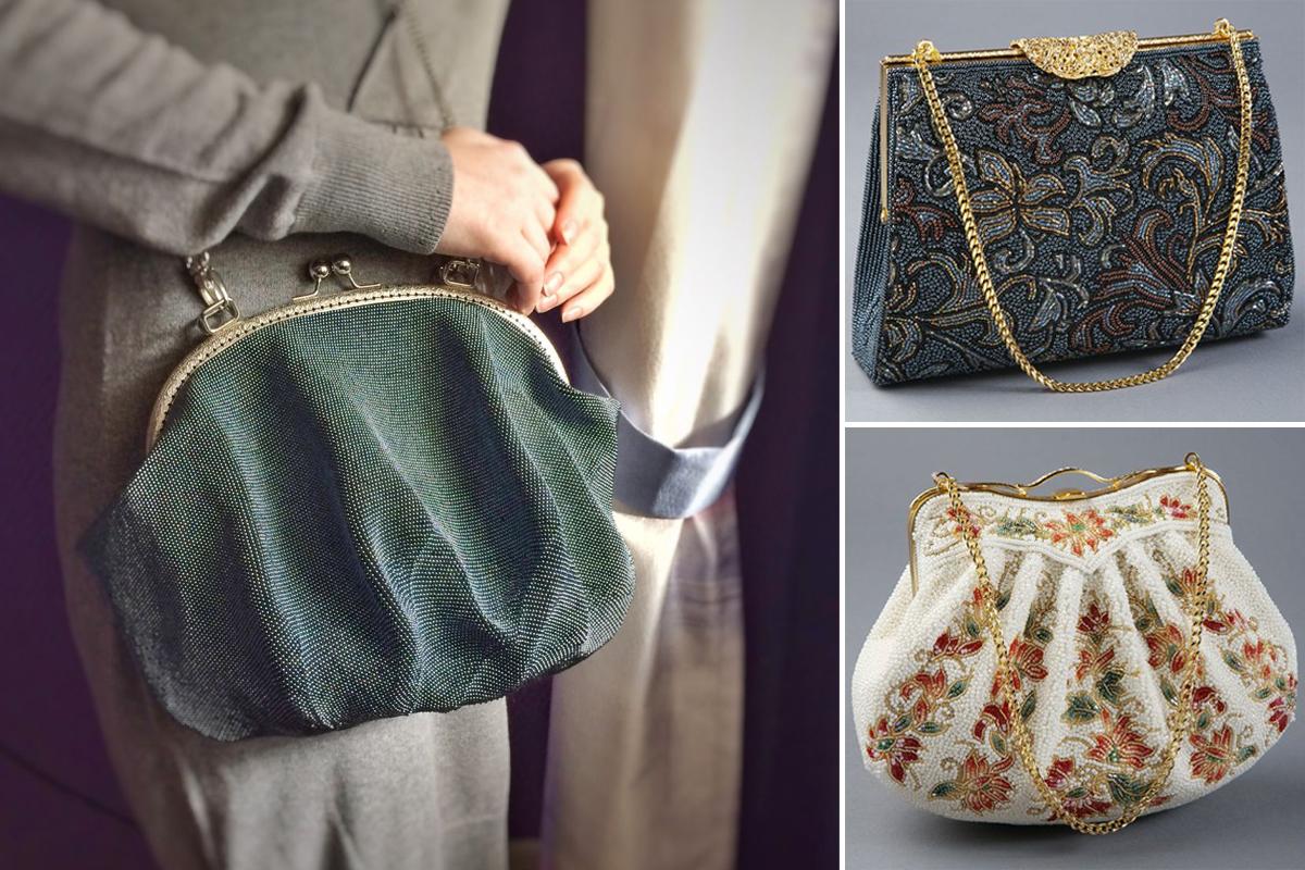 Как бисер и пайетки создают новый образ вечерней сумки-2