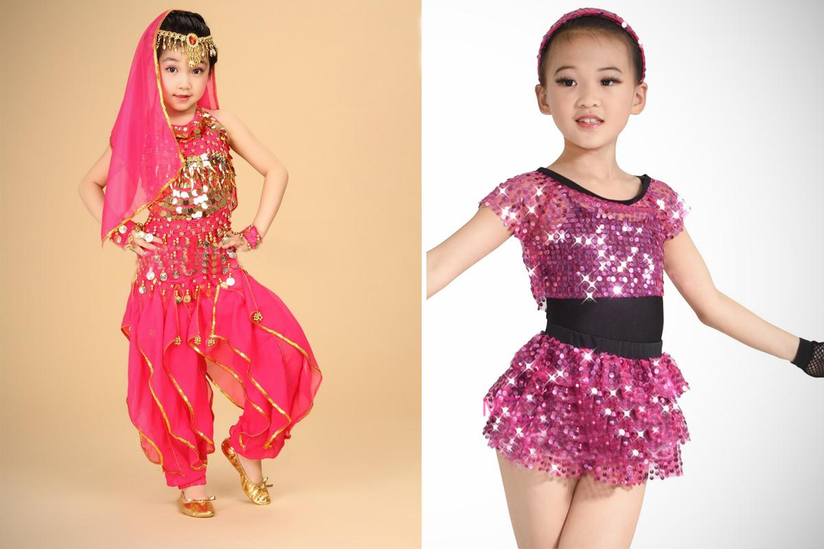 Украшаем танцевальный костюм для девочки