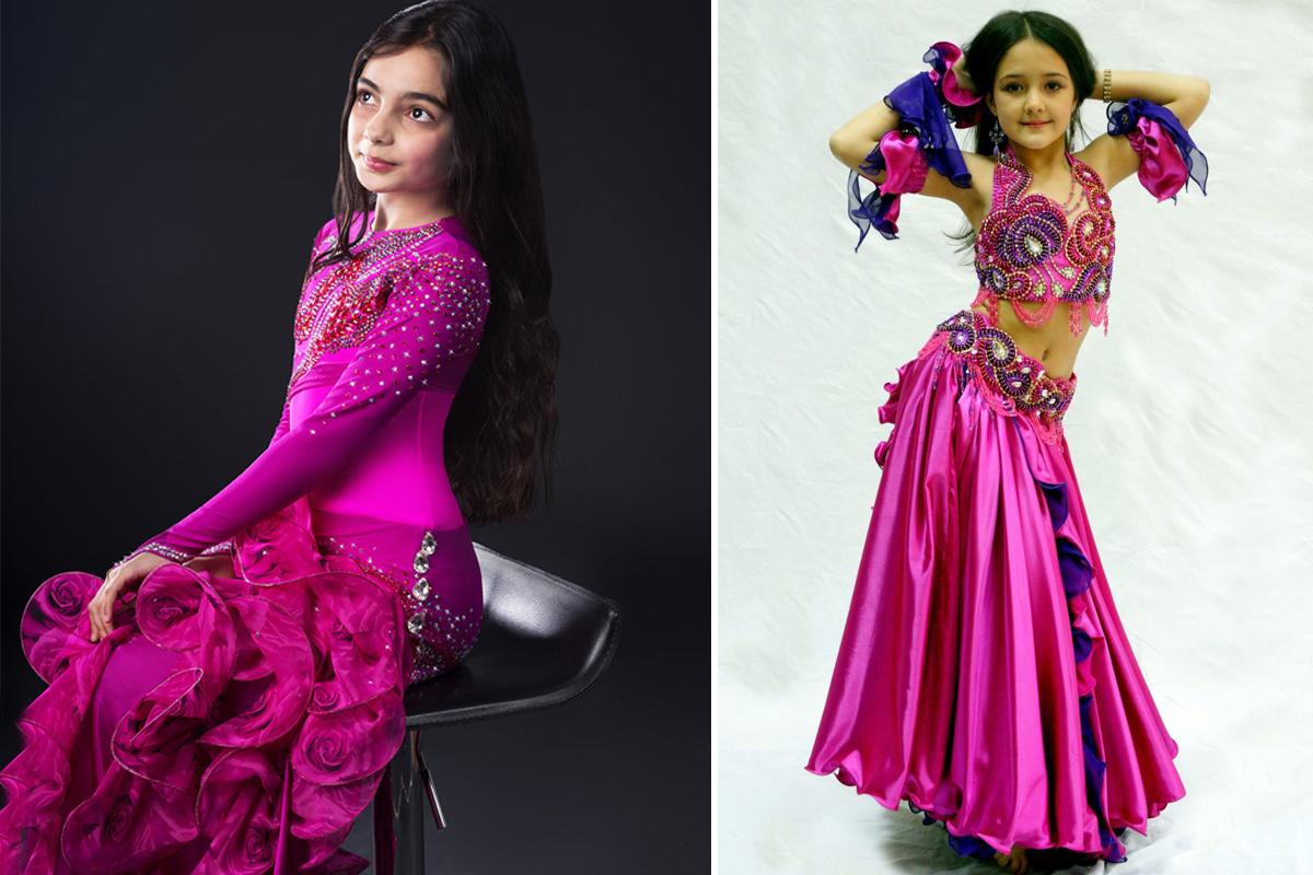 Украшаем танцевальный костюм для девочки-2