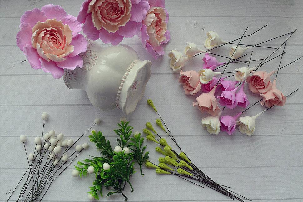 Цветы из полимерной глины-2