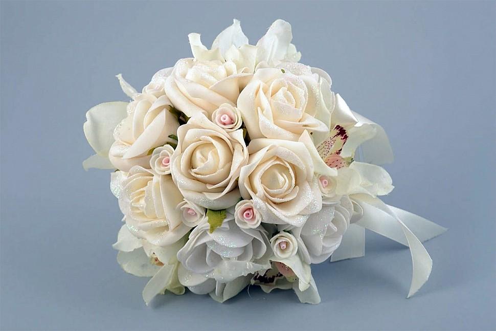 Свадебный букет из фоамирана-3