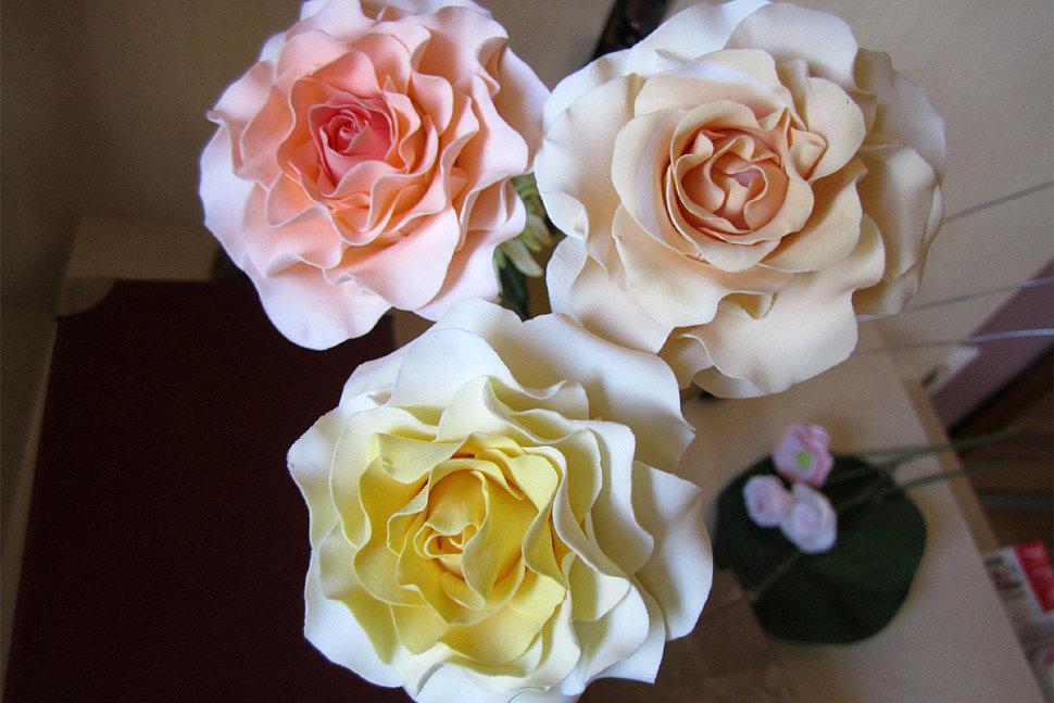 Цветы из полимерной глины-4