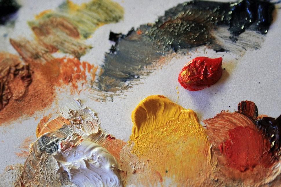 Засохшая акриловая краска для рисования-2