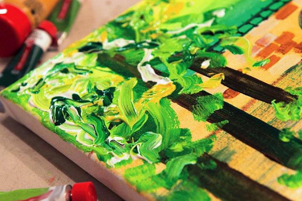 Засохшая акриловая краска для рисования-4