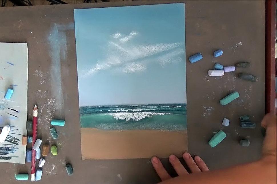Как рисовать сухой пастелью-2