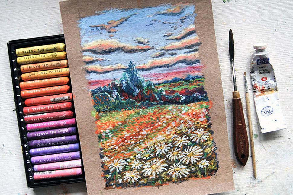 Как рисовать сухой пастелью-5
