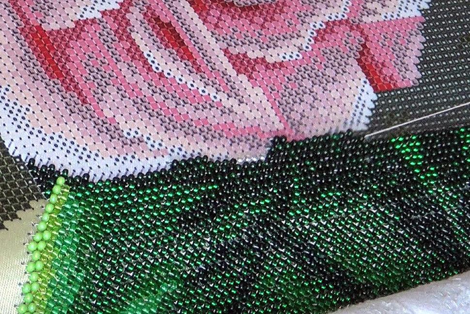 Как вышивать бисером-4
