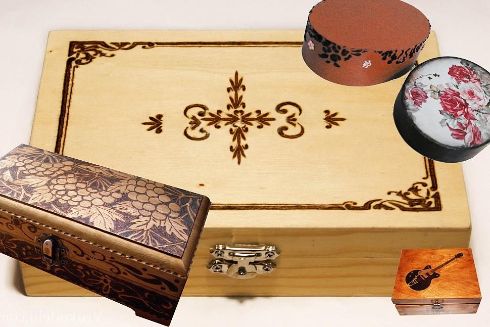 Как украсить деревянную шкатулку