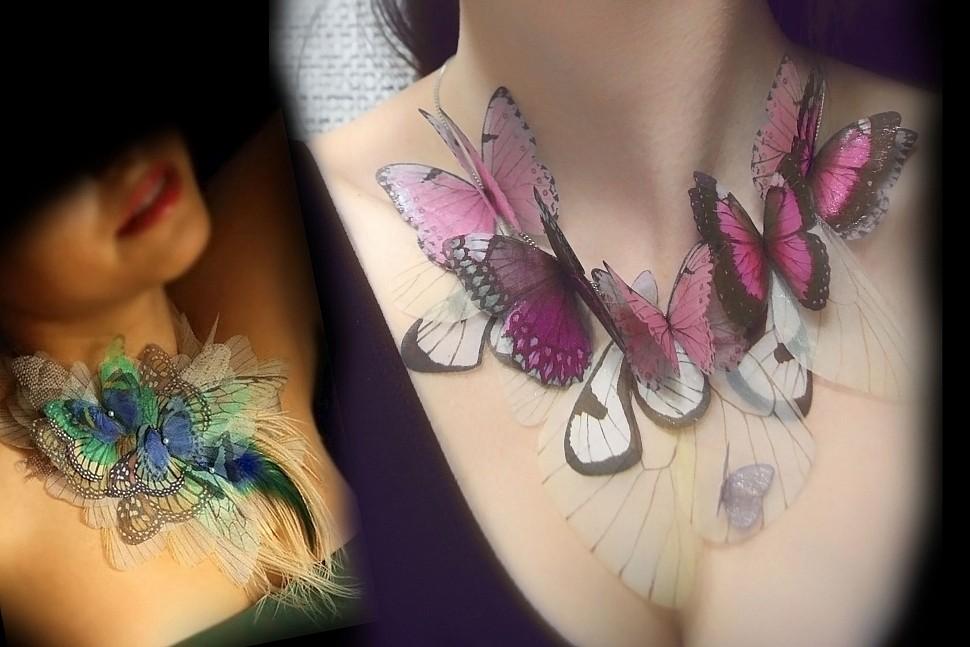 Тренд сезона - использование бабочек в украшениях