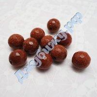 """Бусины из натурального камня """"Авантюрин"""" гранёные коричневые, 10 мм (10 шт)"""
