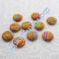 Бусина из синтетического камня разноцветная, 16166 мм (10 шт)