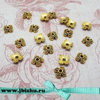 Шапочка для бусин золото 662 мм (20 шт)