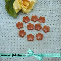 """Бусина """"Цветочек"""" из натурального камня Авантюрин коричневая, 205 мм (10 шт)"""