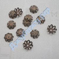 Шапочка для бусин бронза, 145 мм (10 шт)