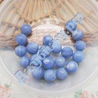Бусина имитация камня голубая, 8 мм (20 шт)