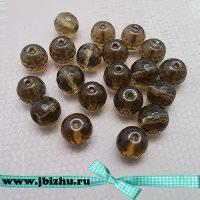 Бусины дымчатый кварц коричневые, 8 мм (20 шт)