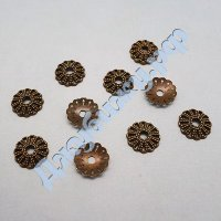 Шапочка для бусин бронза 122 мм (10 шт)