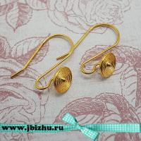 Швензы с декоративным элементом золото, 17218 мм