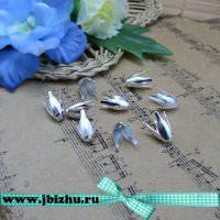 Шапочка для бусин серебро, 138 мм (10 шт)