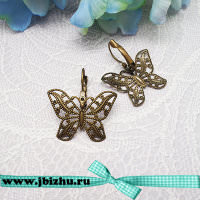 "Основа для сережек ""Бабочка"" бронза, 3122 мм (пара)"